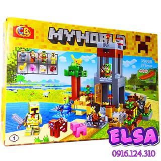 Bộ Lego Xếp Hình Mineecraft My World. Gồm 276 Chi Tiết. Lego Ninjago Lắp Ráp Đồ Chơi Cho Bé.
