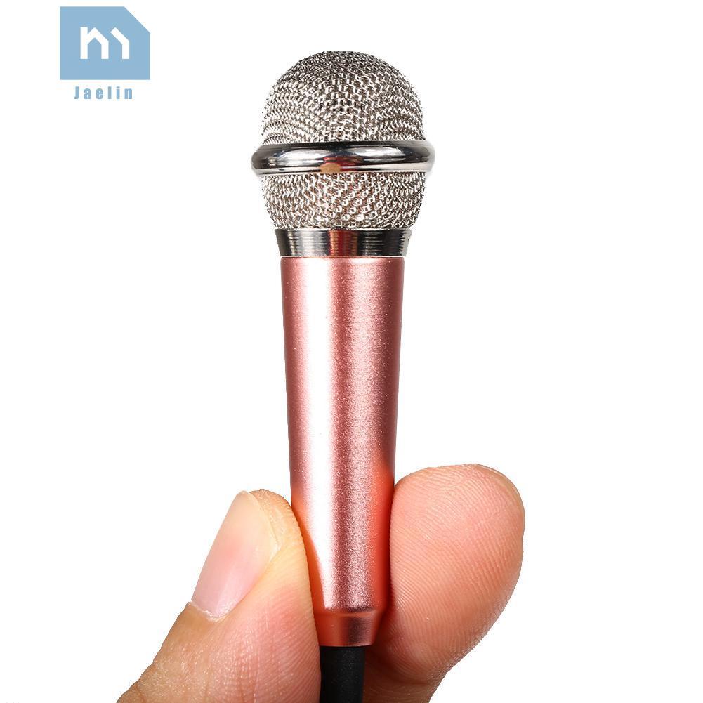 Micro Thu Âm Jack 3.5mm Kèm Giá Đỡ Cho Điện Thoại