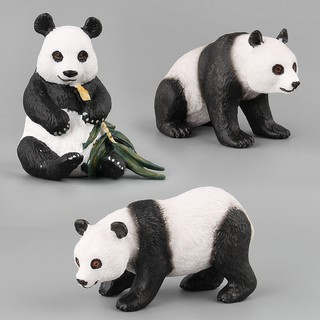 Panda Bear Wild Animal Model Toy Figurine Model Ornament Toys