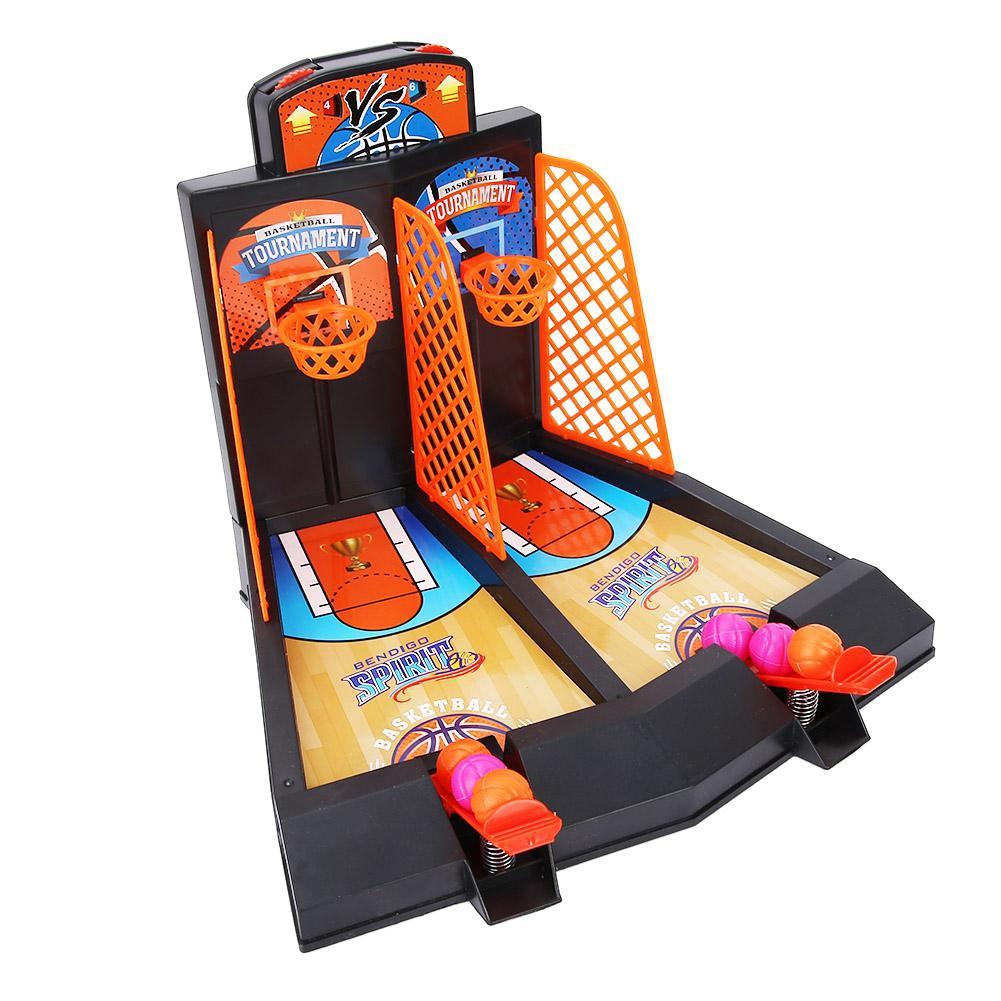 Justgogo Kids Sports Toy Mini Shooting Basketball Toy Parent Child Interaction Desktop Basketball Toys Set Toy Tabletop
