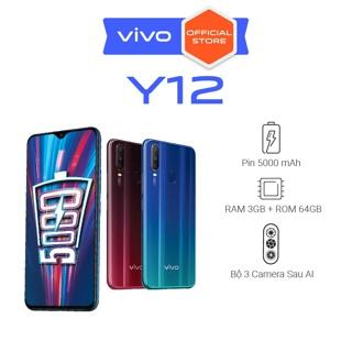 """Điện thoại Vivo Y12 3Gb + 64Gb - Hàng chính hãng giá chỉ còn <strong class=""""price"""">257.000.000.000đ</strong>"""
