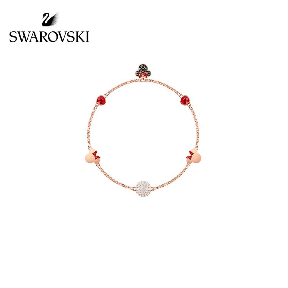 【ชุดเรนโบว์】Swarovski SWA REMIX Minnie Mouse Invisible Magnetic Buckle Female