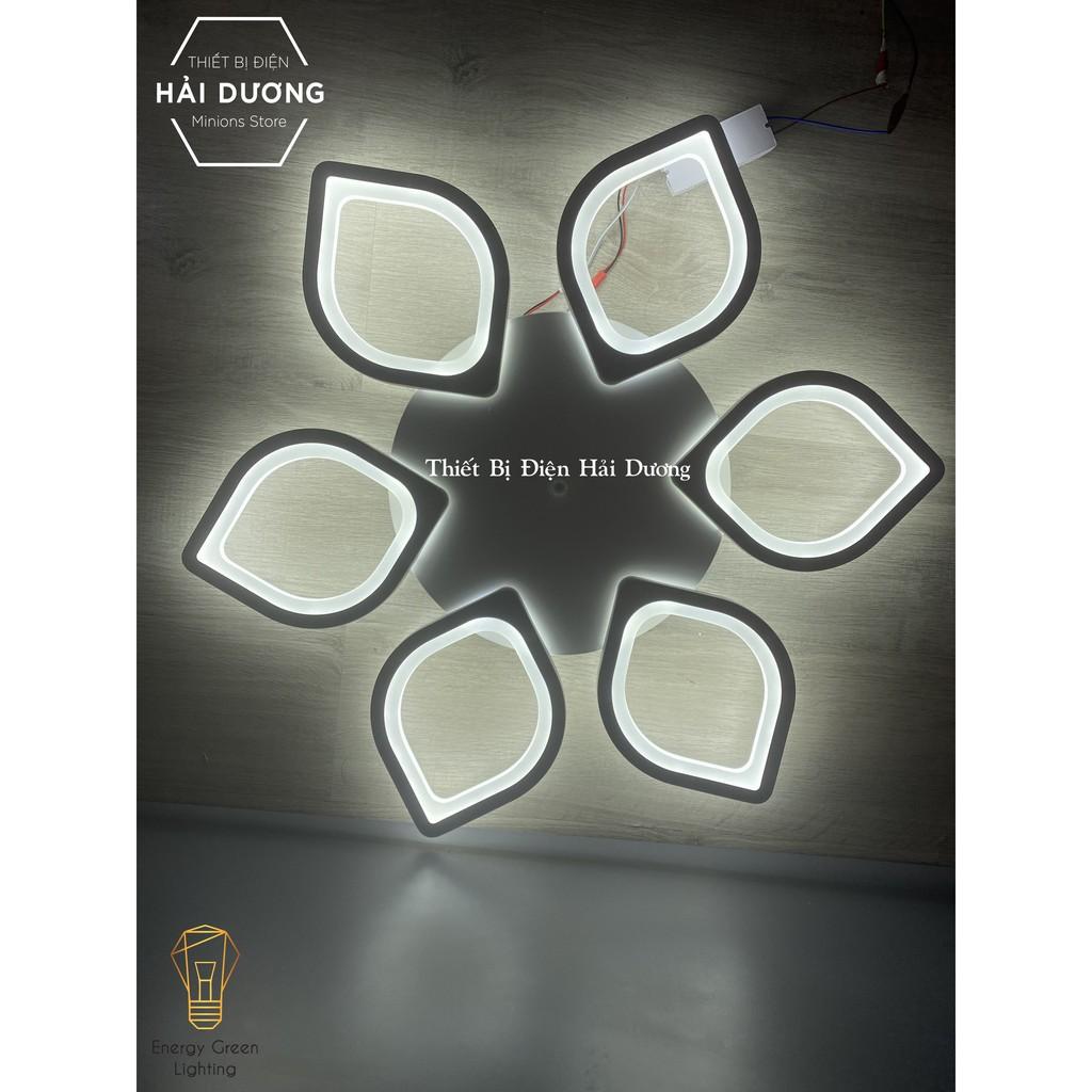 Đèn LED Ốp Trần Decor Mâm 5 Cánh Lá OT-064, Mâm 6 Cánh Hoa Sen OT-066, Mâm 5 Lá OT-070 - 3 Chế Độ Ánh Sáng