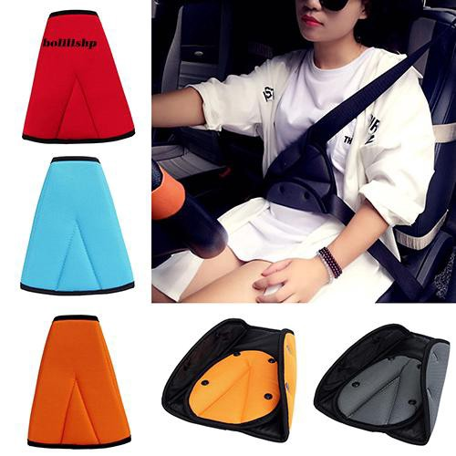 BLLP_Kids Children Car Safety Cover Strap Adjuster Pad Harness Seat Belt Clip