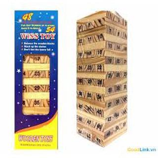 Bộ trò chơi rút gỗ thông minh 54 thanh nhỏ Wiss toy