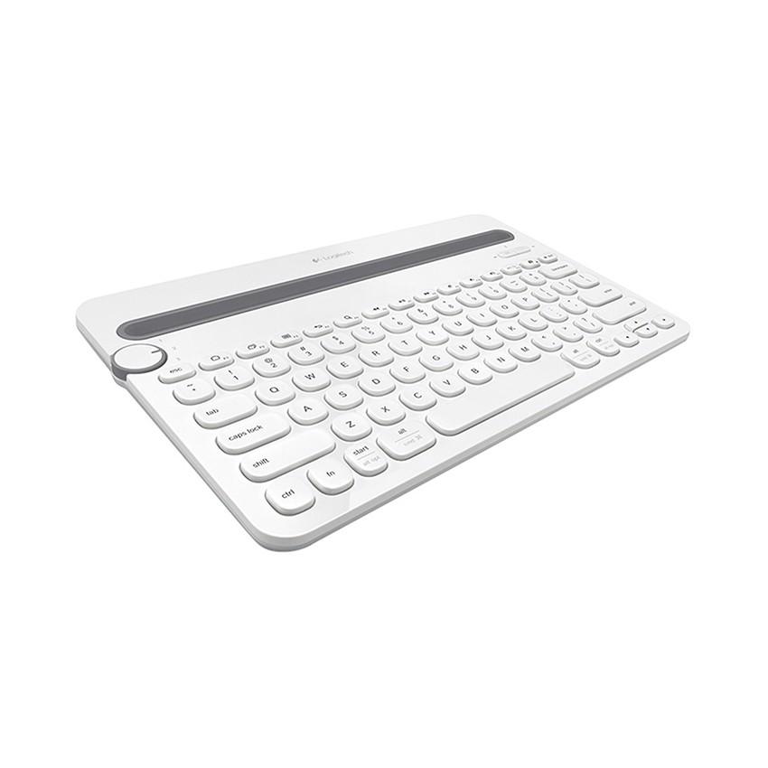 [Mã 267ELSALE hoàn 7% đơn 300K] Bàn phím không dây Logitech K480 màu trắng
