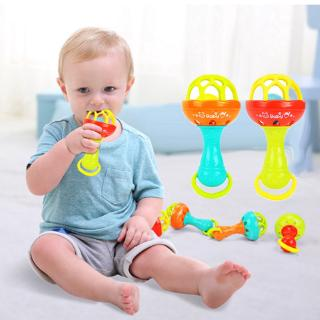 Baby Toy Rattle Stick Multi-functional Dental Rubber Hand Holding Soft Rubber Ball