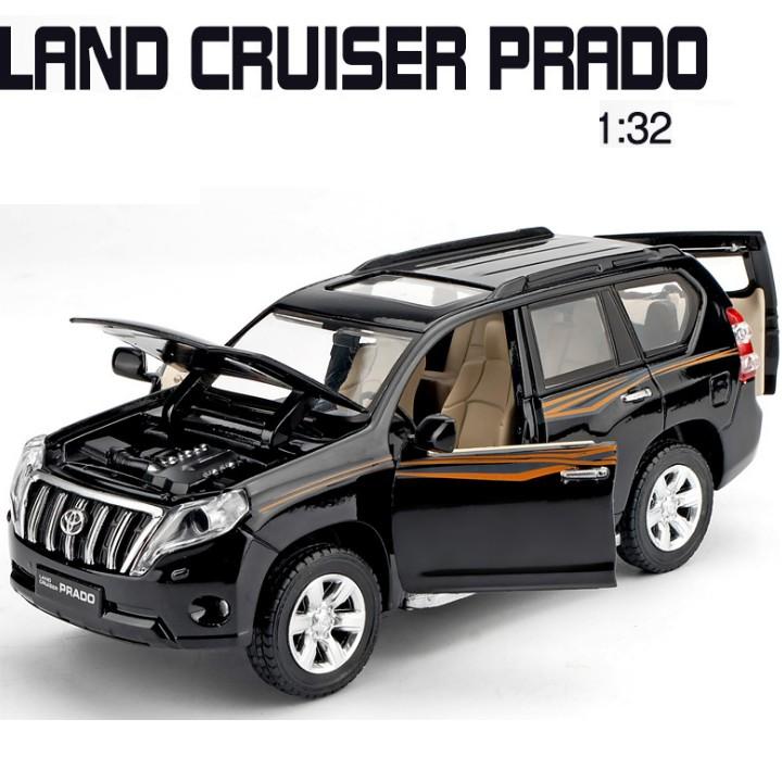 Xe mô hình ô tô Toyota Land cruiser PRADO bằng sắt tỉ lệ 1:32 có đèn và âm thanh