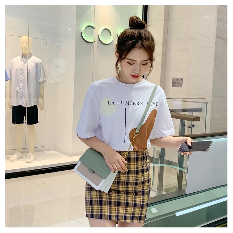 [Mã SKAMCLU7 giảm 10% tối đa 50K đơn 0Đ] Túi xách nữ phối màu vintage phong cách Hàn Quốc - T1044