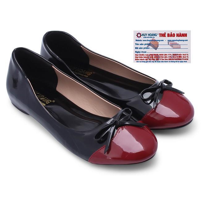Giày Nữ Đế Bệt Huy Hoàng HW7003 - Đen (Size 35