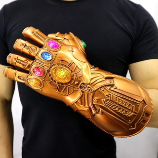 Avengers 4 Endgame Gauntlet LED Light PVC Action Figure Adult Kids Thanos Gloves
