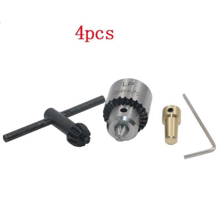 Đầu giữ khoan JTO 0.3mm-4mm + Khớp nối đồng 3.17mm