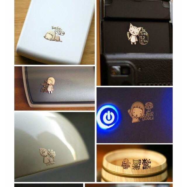 Combo 10 Sticker Dán Mạ Vàng Chống Bức Xạ Cho Điện Thoại, Máy Tính Laptop Cực Chất !