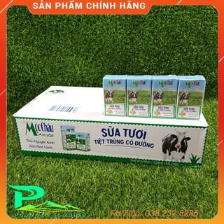 Sữa tươi tiệt trùng Mộc Châu 110ml – thùng 48 hộp [không kèm KM]