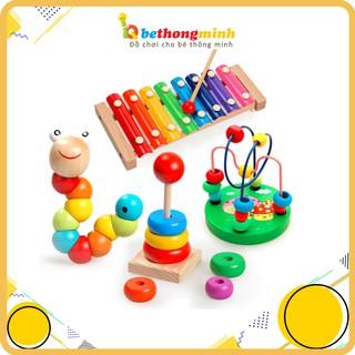 Combo Đồ Chơi Gỗ Thông Minh & Phát Triển Trí Tuệ Cho Bé - Đồ Chơi Thông Minh Montessori thumbnail
