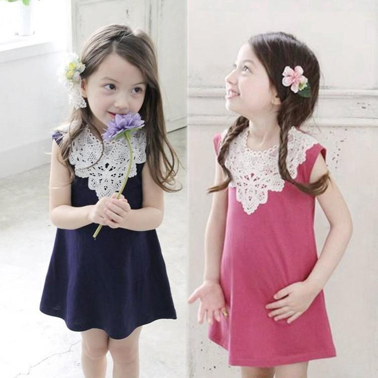 1373869514 - Ready Stock Váy công chúa đứa bé Bộ quần áo cho bé gái Casual bông Korean Mùa hè Váy đầm