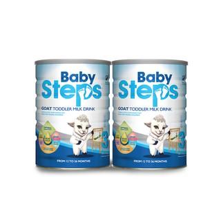 [Mã FMCGM100 - 12% đơn 500K] Combo 2 lon Sữa Dê Công thức Baby Steps Goat Toddler Milk Drink số 3 900gr. thumbnail