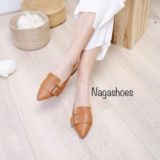 Giày nữ hở gót sục bít mũi phong cách Nagashose