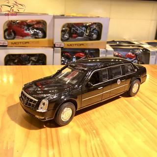 Mô hình siêu xe Cadillac Presidential Limousine tỉ lệ 1/32 màu đen