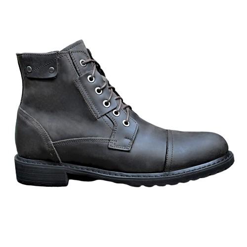 Giày da bò nguyên miếng SmartMen GD466 (Nâu)
