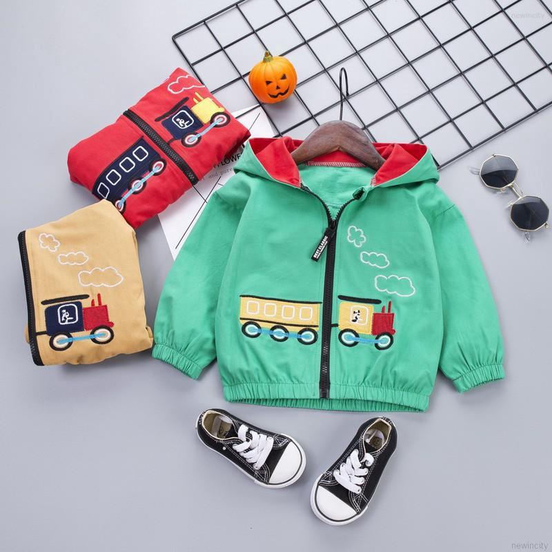Áo khoác hoạ tiết hoạt hình phong cách Hàn Quốc đáng yêu cho bé