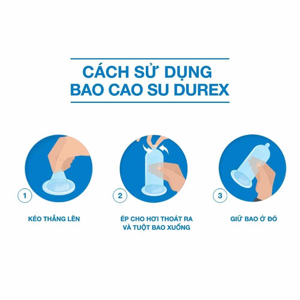 ( Có che tên ) Bao cau su Durex Performa 12 bao