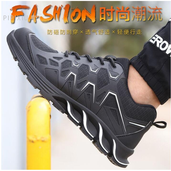 New Spot Safety Shoes Men Steel Toe Shoes Work Shoes Outdoor Sneaker Sport Shoes