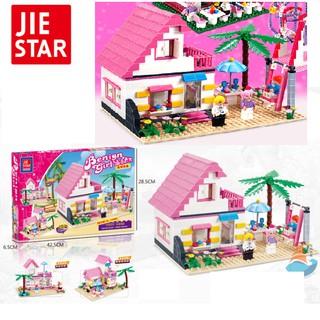 Mô hình ngôi nhà đồ chơi lắp ghép trẻ em gồm 383 chi tiết
