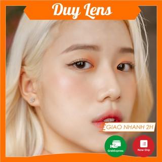 Kính áp tròng Phụng FREESHIP Lens Hàn Quốc độ cận 0- 6 _ Contactlens nâu cam Gdia 13.8mm thumbnail