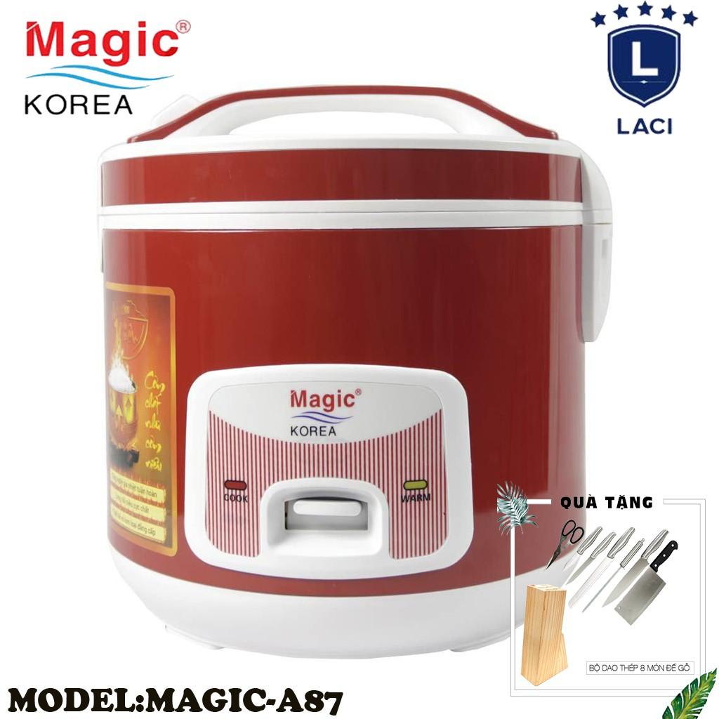 Nồi cơm điện lòng niêu Magic Korea A87 | Dung Tích 2L | Công Suất 700W | Tặng Bộ Dao Làm Bếp 8 Món
