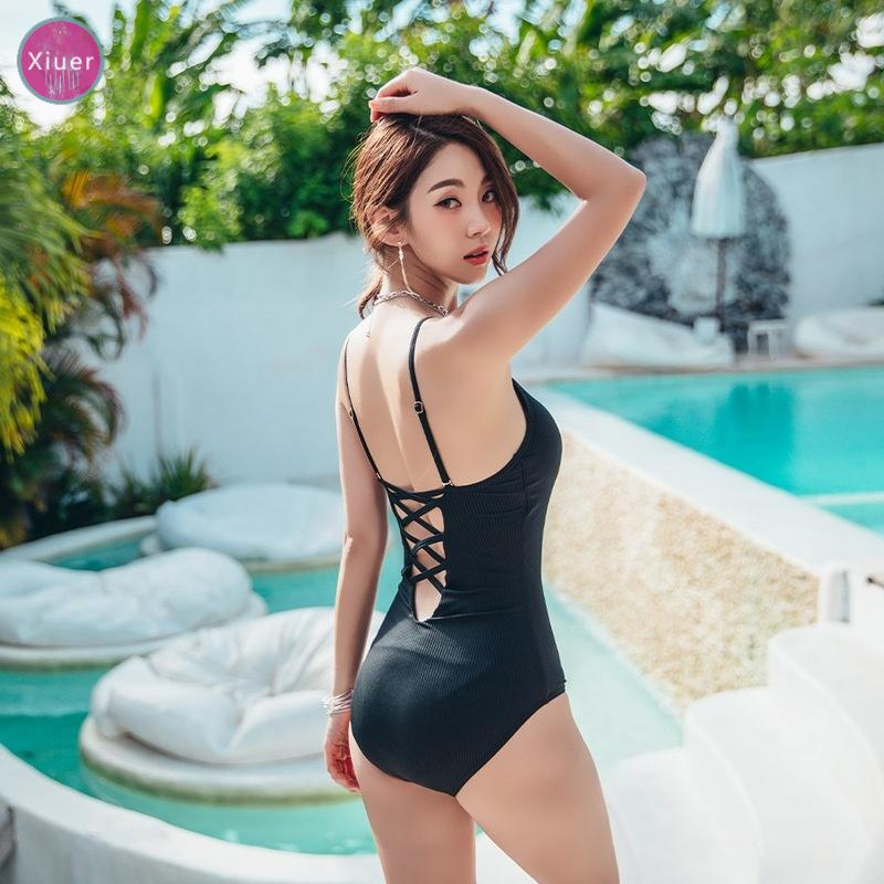 Xiuer Áo tắm hở lưng kiểu mới hàn quốc, áo tắm một mảnh, bikini, đồ đi biển