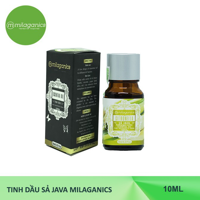 Tinh dầu Sả Java MILAGANICS 10ml