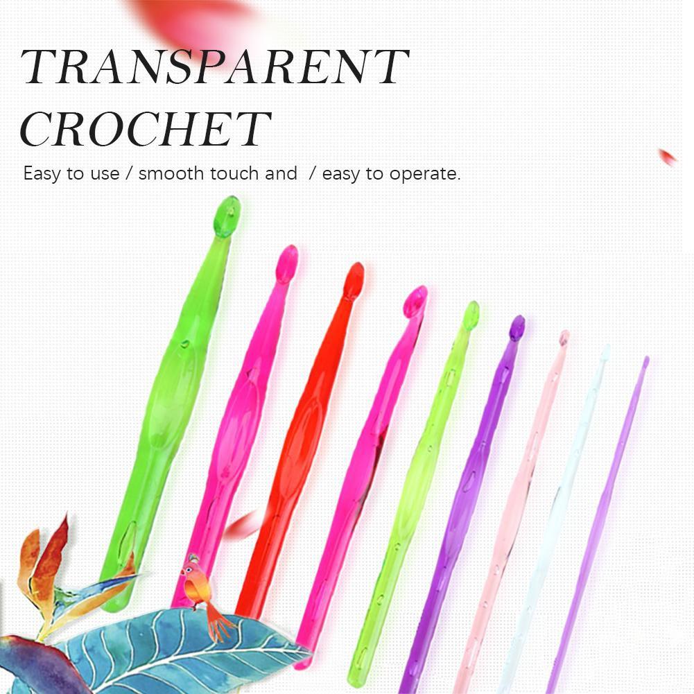 🍒hot sale🍒9pcs/Set Plastic Crochet Hooks Sewing Needles Knit Weave Craft Yarn Sewing Tools Knitting Needles