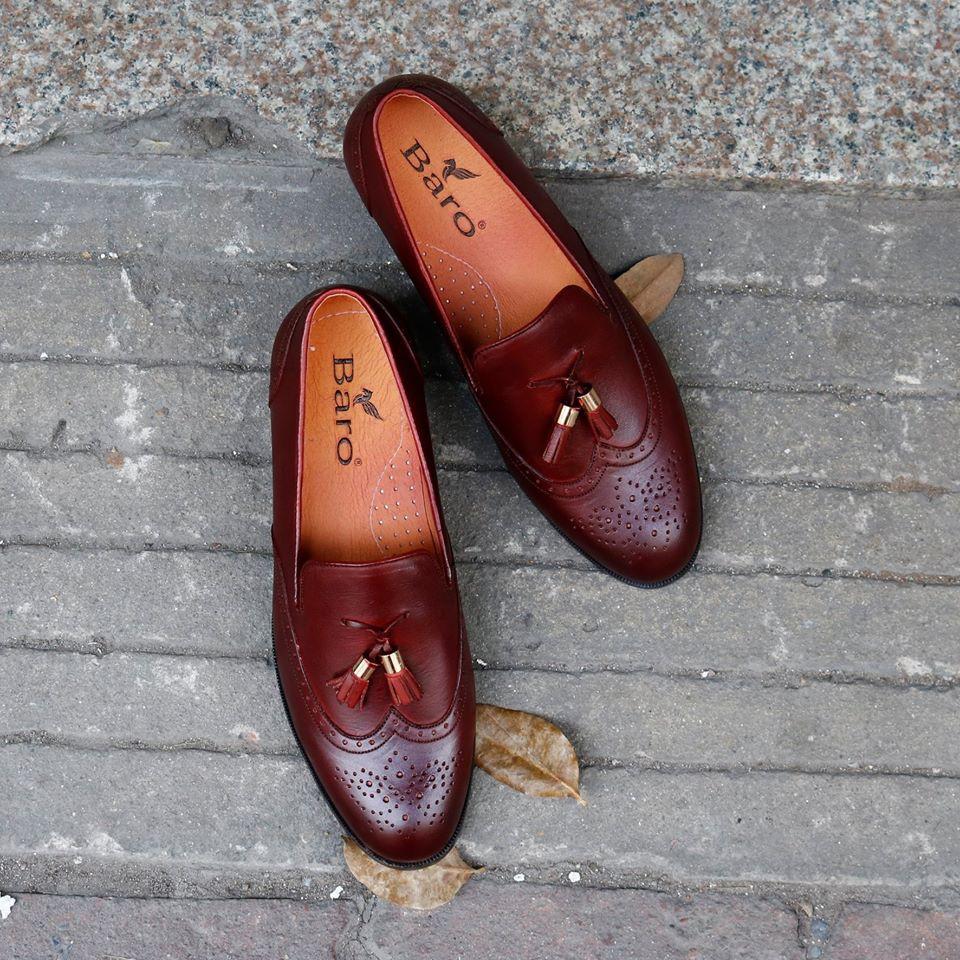 Giày lười nam nữ Công sở Da Bò cao cấp BẢO HÀNH 12 THÁNG
