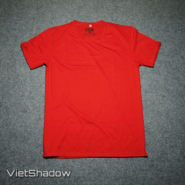 Áo phông trơn thương hiệu VietShadow cổ tròn màu đỏ