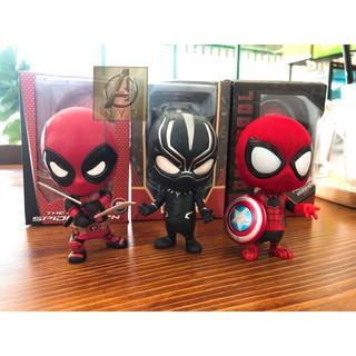 Mô hình chibi Spiderman Deadpool Black cực cute