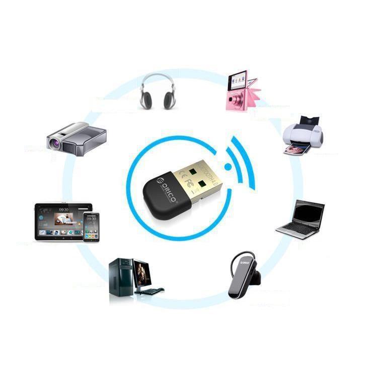 [HÀNG MỚI]  USB Bluetooth 4.0 cho máy tính Orico BTA-403(Đen)