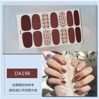 Nhãn Dán Trang Trí Móng Tay 3D Nail Sticker 14 Móng Không Thấm Nước Nhiều Mẫu Tùy Chọn. thumbnail