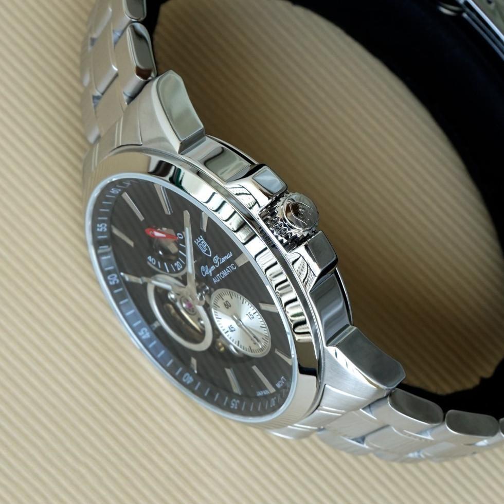 Đồng hồ nam dây kim loại mặt kính sapphire automatic Olym Pianus OP9908-88 OP9908-88