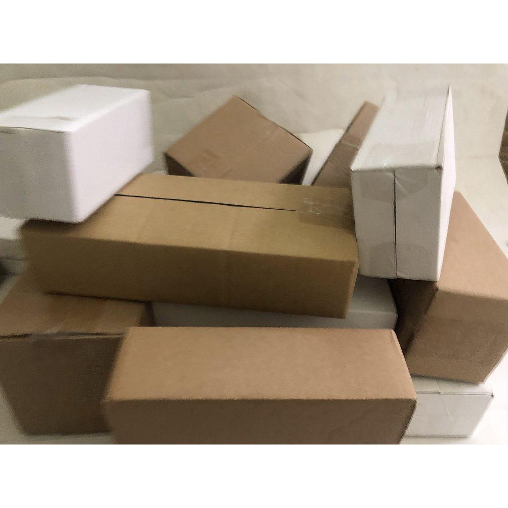 Hộp giấy carton GIÁ RẺ 16.5x11x3, số lượng 100 hộp Trường An Carton