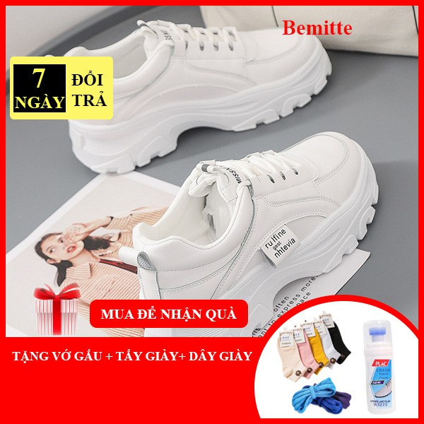 Giày nữ sneaker mẫu hot 2020 kiểu dáng Hàn Quốc , giày nữ đẹp đế cao 5cm  BM009