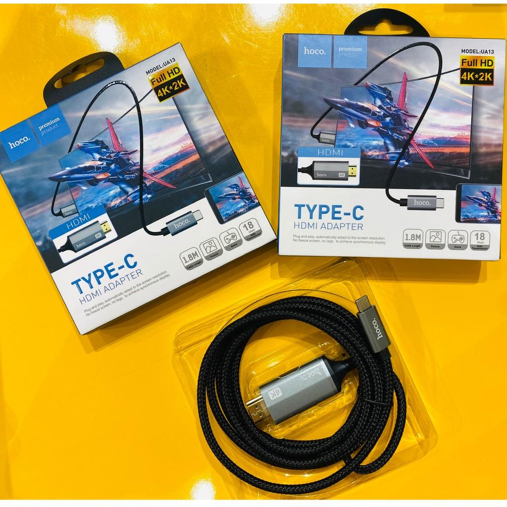 Cáp HDMI [𝑺𝑶̂́ 1 𝑪𝑯𝑨̂́𝑻 𝑳𝑼̛𝑶̛̣𝑵𝑮] Hoco UA13 | Chuyển Đổi Cổng Type  C Sang HDMI Công Nghệ 4K ,Kết nối giữa ĐT với Tivi giảm tiếp 301,000đ