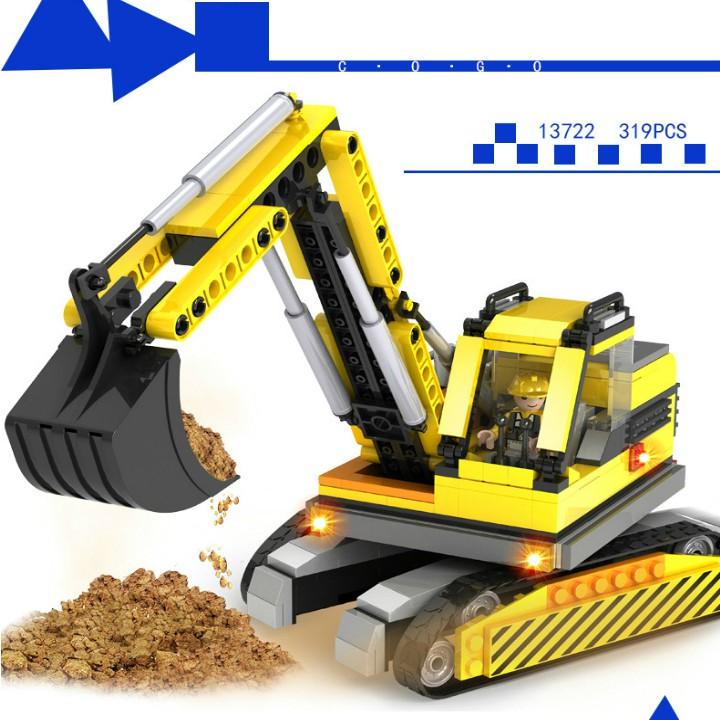 Bộ Lắp Ráp Lego Xe Máy Xúc - 319 Chi Tiết - 10040608 , 1152696913 , 322_1152696913 , 255000 , Bo-Lap-Rap-Lego-Xe-May-Xuc-319-Chi-Tiet-322_1152696913 , shopee.vn , Bộ Lắp Ráp Lego Xe Máy Xúc - 319 Chi Tiết