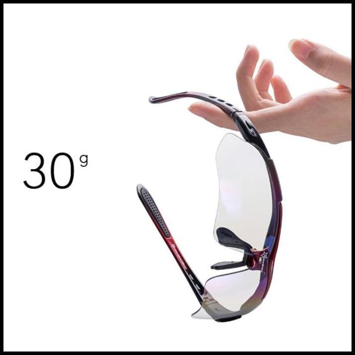Rockbros kính đạp xe phân cực kèm 5 tròng kính cận thị - 0089