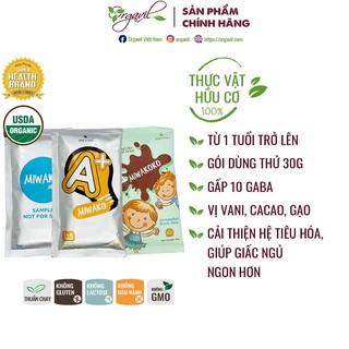 Sữa thực vật hữu cơ Miwako, Miwakoko, Miwako A+ gói dùng thử 30g - Giúp giấc ngủ ngon, cải thiện hệ tiêu hóa - Orgavil thumbnail