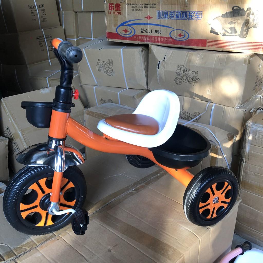 Xe đạp 3 bánh yên da, xe đạp trẻ em bàn đạp vững chân nâng cao sức khỏe của bé