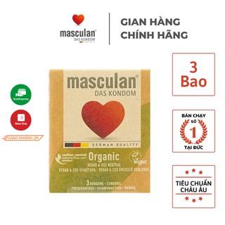 Bao cao su Masculan Organic - Hữu cơ - Siêu mỏng - An toàn - Mang lại cảm giác chân thật - Hộp 3 bao thumbnail