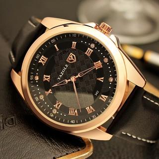 Đồng hồ nam YAZOLE 342 dây da chính hãng cao cấp Fullbox hộp đẹp chống nước tốtM479 thumbnail