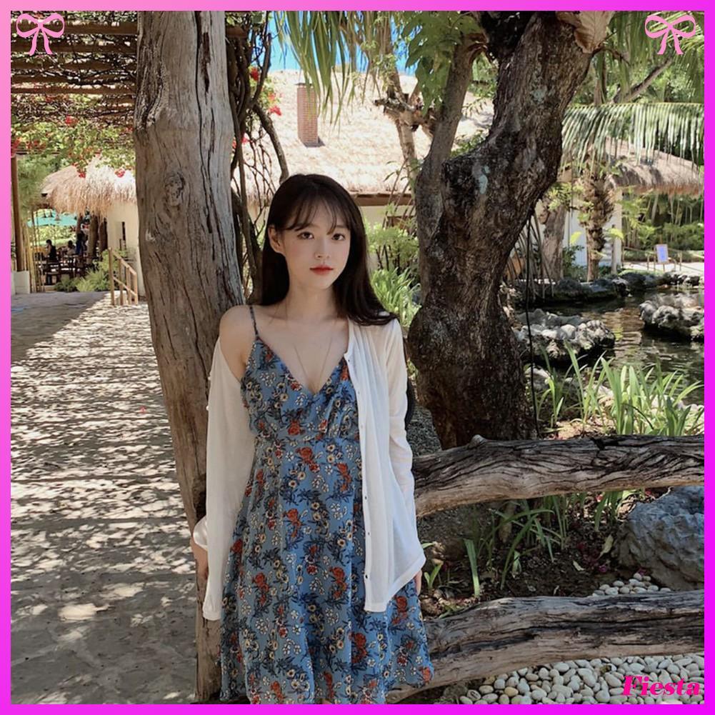 Đầm Hoa Cổ Chữ V Gợi Cảm Dành Cho Nữ