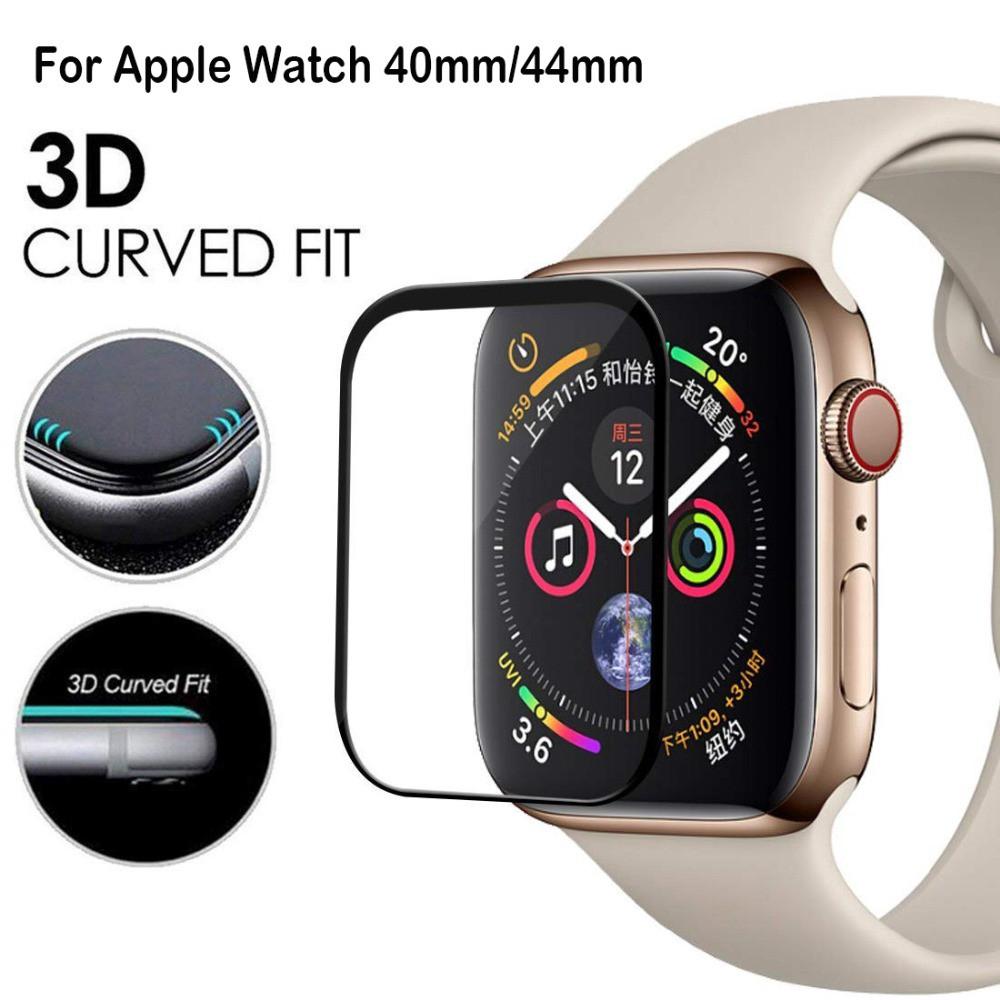 【Apple Watch Protect Front Film】Apple Watch Series 6 se 5 4 3 2 1 Kính cường lực cong 9H cho đồng hồ thông minh 38mm 40mm 42mm 44m keo bảo vệ màn hình đầy đủ